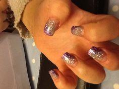 Silver and purple glitter Nice Nails, Fabulous Nails, Pretty Nails, Beauty Tips, Beauty Hacks, Hair Beauty, Purple Glitter, Glitter Nails, Dream Nails