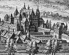 Matthäus Merian montre un paysage urbain de Simmern à 1650. Matthäus Merian l'Ancien (1593-1650), Frankfurt am Main, ca. 1650