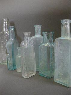 antique apothecary bottles