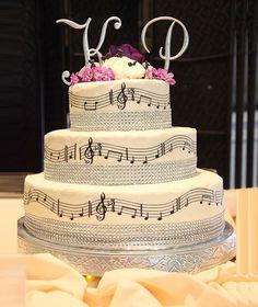 The Music Style Wedding Cake