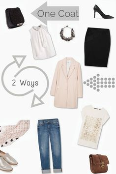 Spring Style, One Coat 2 Ways, a little look at the Esprit Spring Collection and some of my favourite pieces for a capsule wardrobe.