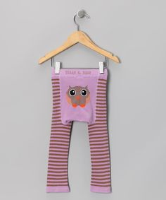 Take a look at this Lilac & Chocolate Owl Leggings - Infant & Toddler by Blade & Rose on #zulily today!