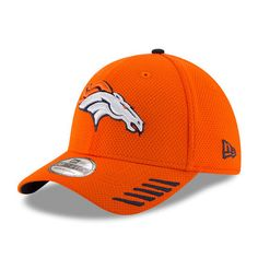 542c37e30 Men s Denver Broncos New Era Orange Tech Grade 39THIRTY Flex Hat