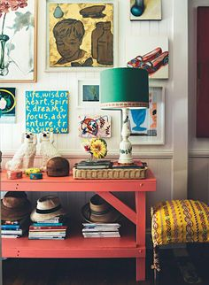 Anna Spiro's home - art collection it just workds art