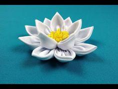 Lotus Kanzashi/Loto kanzashi/Лотос канзаши. МК по запросу. - YouTube
