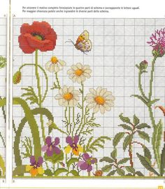 This Pin was discovered by mon Cross Stitching, Cross Stitch Embroidery, Embroidery Patterns, Hand Embroidery, Cross Stitch Charts, Cross Stitch Designs, Cross Stitch Patterns, Butterfly Cross Stitch, Cross Stitch Flowers