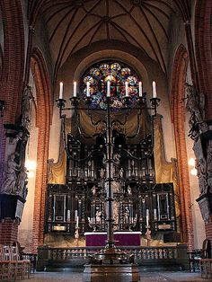 "Altarpiece in Storkyrkan (Stockholm Cathedral)  Sankt Nikolai Church  in Stockholm. (Often called ""Storkyrkan"" = ""The Great Church"" in Sweden) in Stockholm"