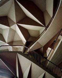 Teatro Regio Opera House 1973   Architect (after fire damage): Carlo Mollino / Pinterest
