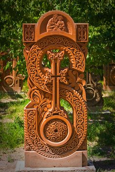 Oshakan - Armenian Khachkar = Stone Cross..So detailed in everyway...I wish we saw more stuff like this...Whoa!!