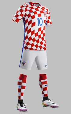 At last we see Croatia in their trademark checkerboard home kit!