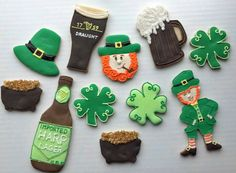 St. Patrick's Day Cookies by ComfySweets on Etsy