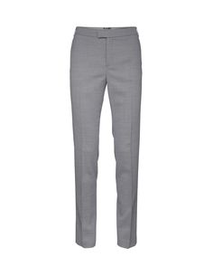 """Women's cigarette trousers in wool stretch. Feature hook and bar closure at front. Two pockets at front, and one paspoil pockets at back. Blind-stitched hem. Regular waist. Full length. </br></br>For a complete suit look wear it with <a href=""""http://tigerofsweden.com/se/blazers/ruma-blazer-S62758008.html"""" style=""""font-weight:bold; text-decoration: underline;"""" target=""""_blank"""">Ruma blazer<&#x..."""