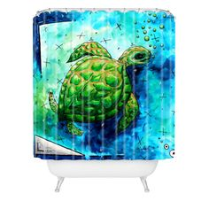 Madart Inc. Sea of Whimsy Sea Turtle Shower Curtain | DENY Designs Home Accessories