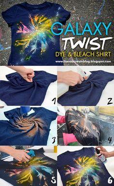 Galaxy Twist Dye + Bleach Shirt - DIY