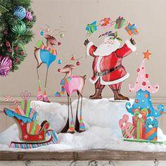 Santa, Tree, Sleigh & Reindeer