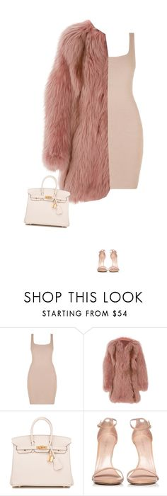 """""""*scream queens kind of vibe*"""" by eddalara on Polyvore featuring mode, J. Mendel, Hermès, Stuart Weitzman, chic en chicoutfit"""