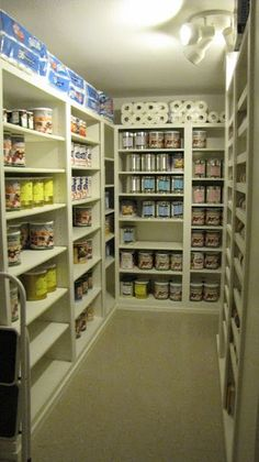 The Bakers: Food Storage Room: really neat ideas! The Bakers: Food Storage Room: really neat ideas! Basement Storage, Pantry Storage, Basement Remodeling, Kitchen Organization, Kitchen Storage, Basement Ideas, Closet Organization, Basement Closet, Pantry Diy