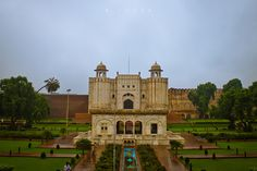 Lahore fort (Shahi Qila).  Origins of the fort go as far back as antiquity, however, the existing base structure was built during the reign of Mughal emperor Akbar (1556–1605), and was regularly upgraded by subsequent rulers, having thirteen gates in all. Thus the fort manifests the rich traditions of Mughal architecture. However, it is said to be built first in 800B.C.