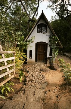 A Snow White stucco storybook playhouse beats out a plastic one any day.