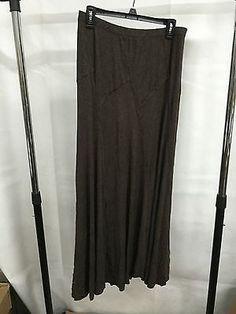 Studio M Brown Casual Long Skirt, Size L