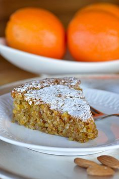 WIN! Orange Almond Cake- Gluten Free Easy and absolutely delicious. I sprinkled the powdered sugar over a cross cut-out to give it a special look for Easter.