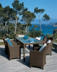 Image detail for -Blue Wicker Outdoor Dining Furniture Wicker Outd