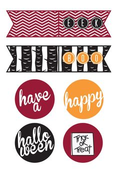 Free Halloween Cupcake toppers at Just Us Three Design