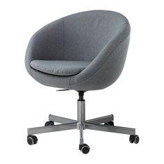 IKEA - SKRUVSTA, Sedia da ufficio, , Vissle grigio, , Ti offre una seduta confortevole grazie all'altezza regolabile.Le rotelle sono rivestite in gomma e scorrono dolcemente su tutti i tipi di superfici.