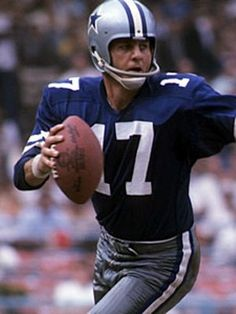 "Don Meredith, 1960 - 1968, played 104 games, position Quarterback, ""Dandy Don Meredith was an extremely popular player while with Dallas. Meredith plated high school, college and professional football all very close to the Dallas area. He started 85 games at Quarterback for the Cowboys, completing 1170 of 2308 passes for 17,199 yards and 135 touchdowns. He also rushed for 1,216 yards on 242 carries, scoring 15 touchdowns. Meredith made the Pro Bowl in 1966,1967 and 1968."