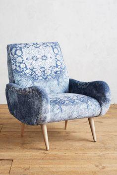 Anthropologie Rug-Printed Losange Chair