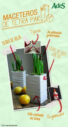 Ideas hay muchas para reciclar tus envases de AdeS, pero ésta es realmente sencilla. Necesitas muy pocos materiales y toda tu dedicación.
