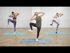 30-Minute Cardio Pilates For a Flat Belly. Featuring Roar Strappy Bra and Rainbow Adder Mesh Panel Capri styles #popsugarfitness #wearittoheart
