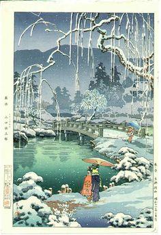 Tsuchiya Koitsu Spring Snow, Kyoto Maruyama 1936