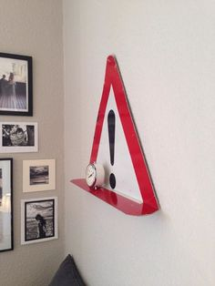 Traffic sign as shelf. Edgars.dk