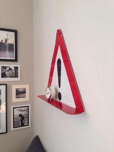 Traffic sign as shelf. Edgars.dk