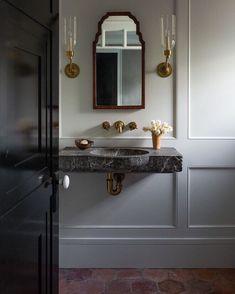 The Powder Room - Park and Oak Interior Design Bad Inspiration, Bathroom Inspiration, Interior Inspiration, Inspiration Boards, Beautiful Bathrooms, Modern Bathroom, Small Bathroom, Master Bathrooms, Bathroom Canvas