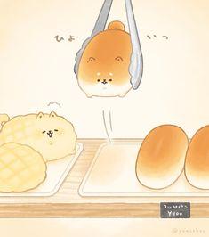 Cute Kawaii Animals, Cute Animal Drawings Kawaii, Cute Food Drawings, Cute Little Drawings, Images Kawaii, Cute Images, Cute Food Art, Cute Art, Griffonnages Kawaii