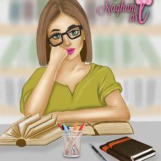 U can do it 👍🏻👍🏻 Girly art Cute girl drawing Pink girls art