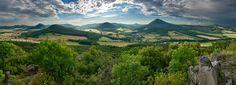 The České středohoří, Central Bohemian Uplands, Czech Republic. European Countries, Mountain Range, Czech Republic, Magick, Mountains, Country, Helmets, Places, Dragon