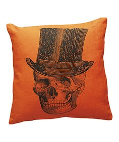 Take a look at this Skeleton With Top Hat Décor Pillow by Primitives by Kathy on #zulily today!