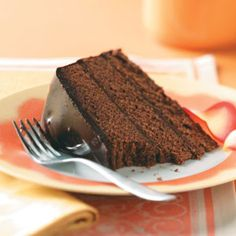 Taste of home chocolate cake recipe