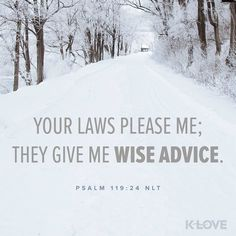 Your testimonies also are my delight; They are my counselors. Psalms 119:24 NASB #votd #klove #laws
