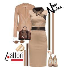 Lattori: New Nudes by ladygroovenyc on Polyvore featuring moda, Lattori, The Row, Jimmy Choo, Louis Vuitton, Trina Turk LA, Morellato, Mykita and Essie