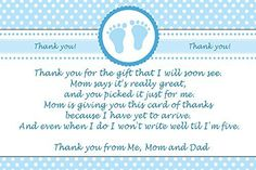 30 Thank You Cards Blue Polka Dots Baby Boy Shower Photo Paper
