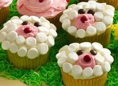 Lamb Cupcakes for Easter