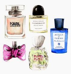 Glamour fragrances illustrations Do you like my tight sweater ? - Caroline Andrieu
