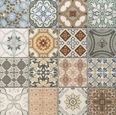 Vintage Decor Rustic Provence rustic tiles are beautiful country tiles which can be used as either wall or floor tiles. These decor tiles have been designed to co-ordinate with either the grey or terracotta tiles to create individual tile designs. Geometric Patterns, Tile Patterns, Kitchen Wall Tiles, Kitchen Flooring, Patterned Kitchen Tiles, Flooring Tiles, Bathroom Shelves, Patchwork Tiles, Patchwork Kitchen