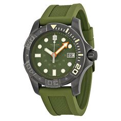 Victorinox #swiss army dive master 500 #olive green men's #watch 241560 retail $7,  View more on the LINK: http://www.zeppy.io/product/gb/2/262172099997/