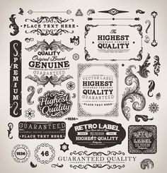 Free Vector Graphics: Free Decorative Label Vectors #webdesign #graphicdesign #scrapbooking