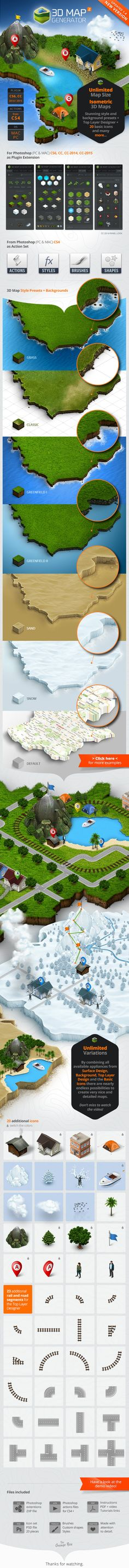 #3D #Map Generator 2 - #Isometric On at http://graphicriver.net/item/3d-map-generator-2-isometric/7667950?ref=graphicon